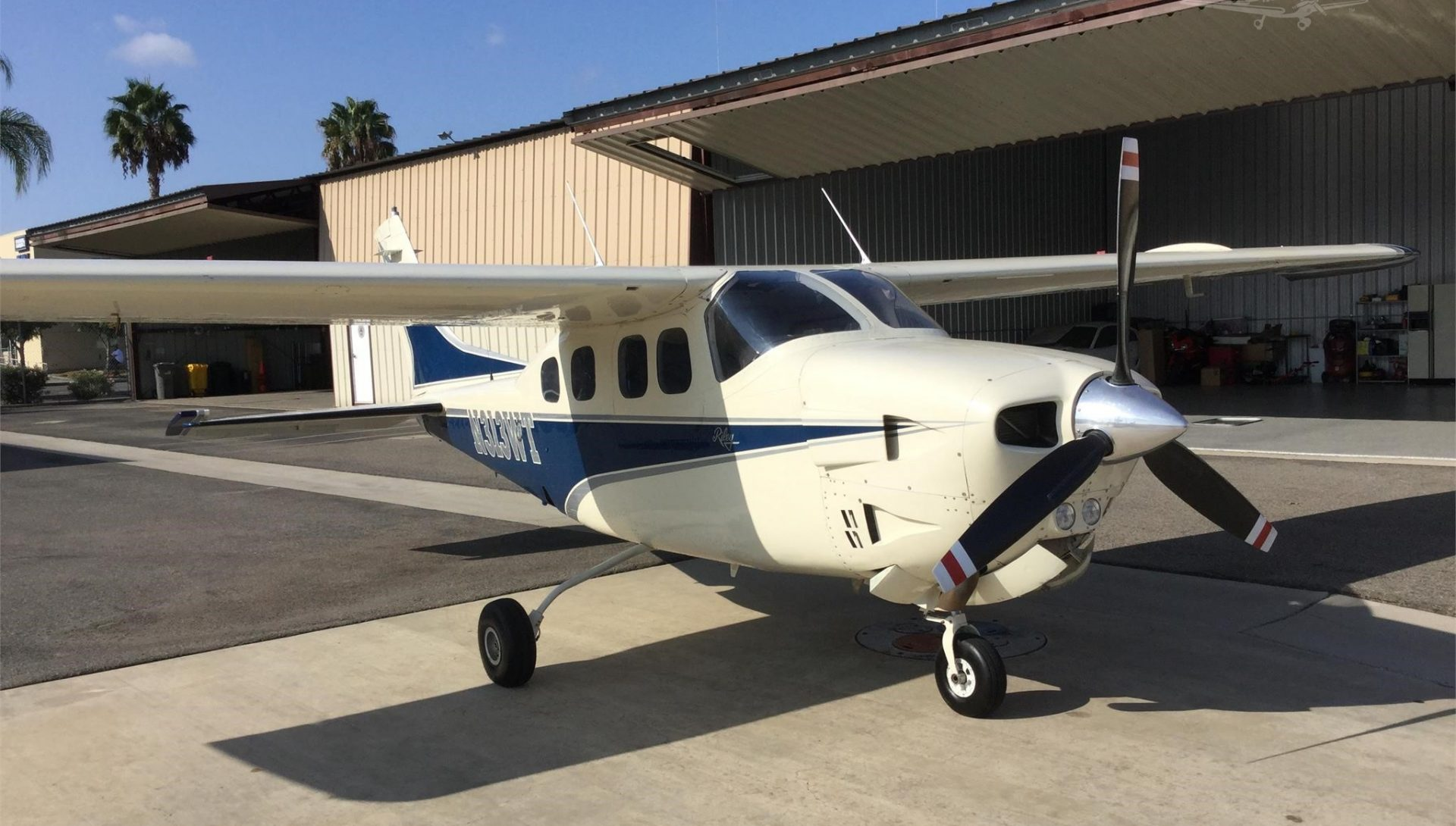 Beautiful! Riley Rocket 1979 Cessna P210N New Garmin GTN 750 & Garmin 345 ADS-B transponder w/ traffic and weather displayed on GTN 750, W/STOL, Speed brakes! Turbo intercooler! June Service Center annual inspection just completed!