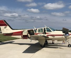 1978 Beechcraft Baron 58TC Rates a 9 in & out! Beautiful! one of the lowest time in the country 2400TTAF 850 SMOH left/ 1200 SMOH right, Garmin GTN750, 345 audio panel, 345 transponder, flight stream 210 loaded!